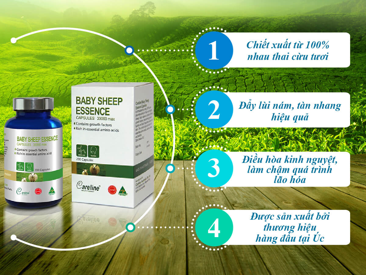 Nhau thai cừu Baby Sheep Essence 33000mg