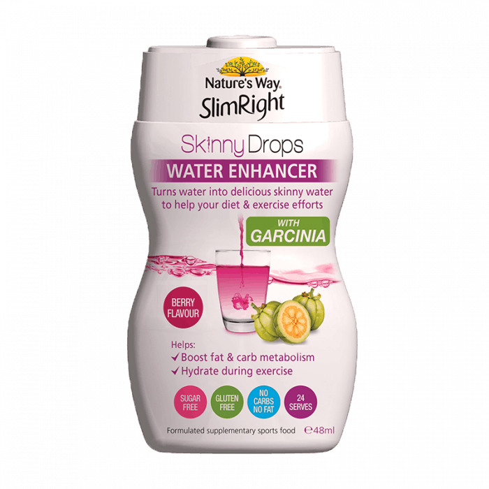 SlimRight Skinny Drops Water Enhancer Berry Flavour